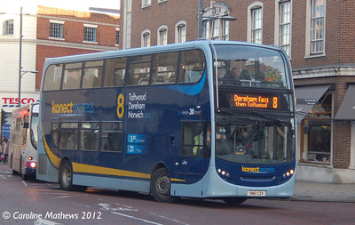 Konectbus 605 (SN61CZY), Norwich, 23rd November 2012