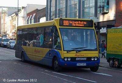 Anglian Bus 316 (YN57HPY), Norwich, 23rd November 2012