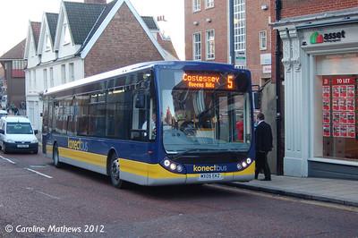 Konectbus 402 (MX05EKZ), Norwich, 23rd November 2012