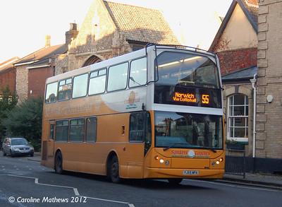 Sanders 102 (YJ55WPA), Norwich, 23rd November 2012