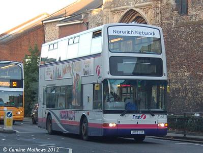 First 33156 (LR02LXP), Norwich, 23rd November 2012