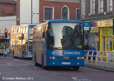 Belle Coaches OJI7455, Norwich, 23rd November 2012