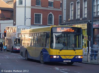 Anglian Bus 416 (R81EMB), Norwich, 23rd November 2012