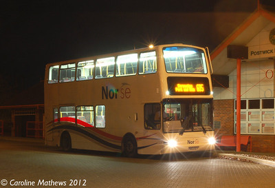Norse 7163 (PN03ULV), Postwick Park & Ride, Norwich, 23rd November 2012