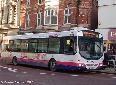 First 66959 (WX55TZW), Norwich, 23rd November 2012