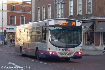 First 69011 (AU05DMZ), Norwich, 23rd November 2012