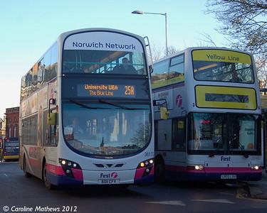 First 36172 (BD11CFV), Norwich, 23rd November 2012