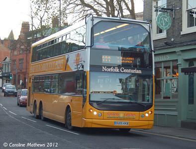 Sanders 103 (OU05KKB), Norwich, 23rd November 2012