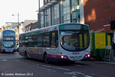 First 66345 (MV02VCY), Norwich, 23rd November 2012