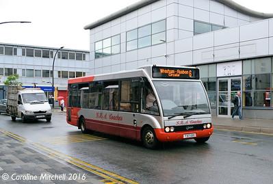 GHA Coaches T317UOX, Lord Street, Wrexham, 13th June 2016