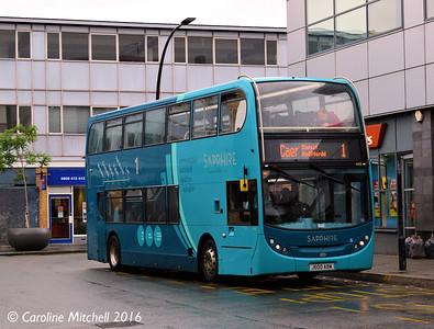 Arriva Cymru 4406 (J600ABW), Lord Street, Wrexham, 13th June 2016