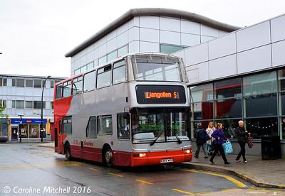 GHA Coaches W465WGH, Lord Street, Wrexham, 13th June 2016