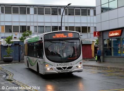 GHA Coaches DK09DZH, Lord Street, Wrexham, 13th June 2016