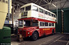 Routemaster 531 (ALM 71B) in the depot, Blackpool, May 1996. RM2071 later returned to London and nowadays can be found at work on heritage route 15.