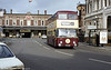Chester 49 (JFM 649J), a 1970 Daimler Fleetline CRG6LX/Northern Counties H43/29F leaves the rail station.