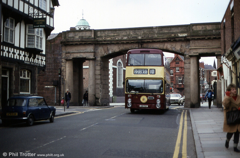 96 (SDM 96V) is seen passing through the City Wall.