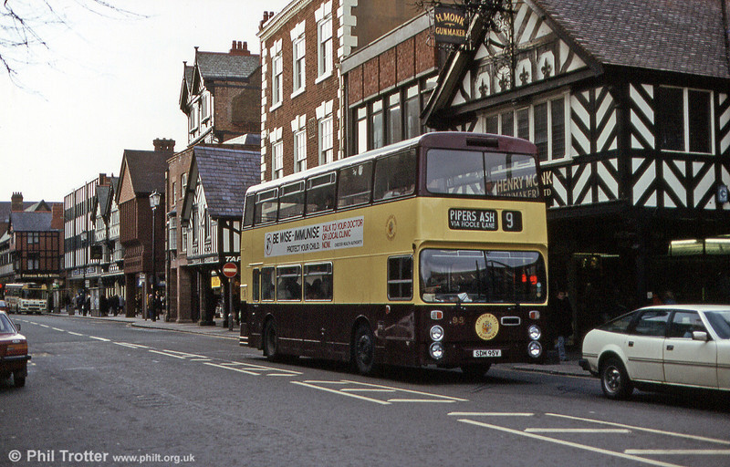 Seen when still quite new is 95 (SDM 95V), another Leyland Fleetline, once again with Northern Counties H43/29F bodywork.