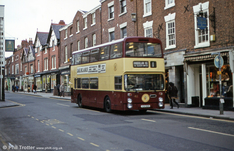 81 (VCA 181R) was a Leyland Fleetline with Northern Counties H43/29F built in 1977.