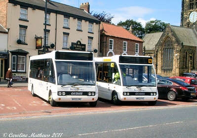 Dales and District 07 (MX05EMV) & 04 (MW52PYZ), Northallerton, 8th August 2011