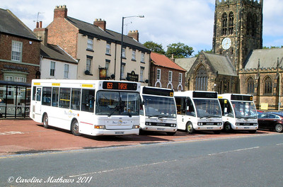 Dales and District 08  (MX05ENE), 09 (MX04VLP), 07 (MX05EMV) & 04 (MW52PYZ), Northallerton, 8th August 2011