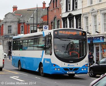 Ulsterbus 211 (MEZ 7211), Downpatrick, 15th October 2014