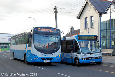 Ulsterbus 296 (OEZ 7296) and 1854 (SCZ 3854), Newcastle, 14th October 2014