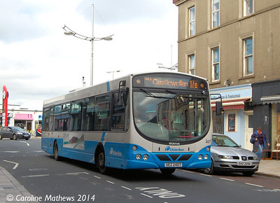 Ulsterbus 407 (UEZ 2407), Newcastle, 14th October 2014