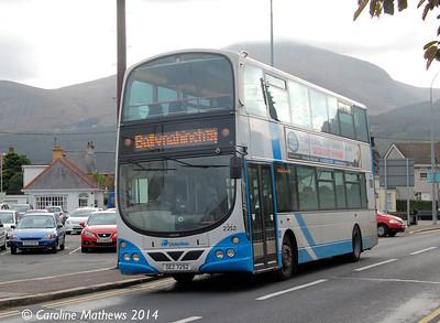 Ulsterbus 2252 (OEZ 7252) , Newcastle, 14th October 2014