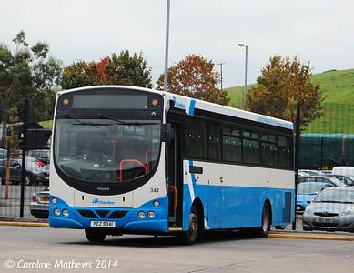 Ulsterbus 341 (PEZ 9341), Downpatrick, 15th October 2014