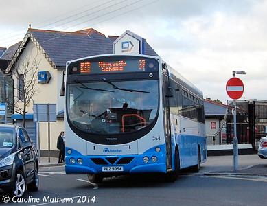 Ulsterbus 354 (PEZ 9354), Newcastle, 14th October 2014