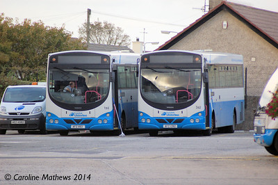 Ulsterbus 193 (AFZ 1193) and 392 (AFZ 1392), Newcastle, 14th October 2014
