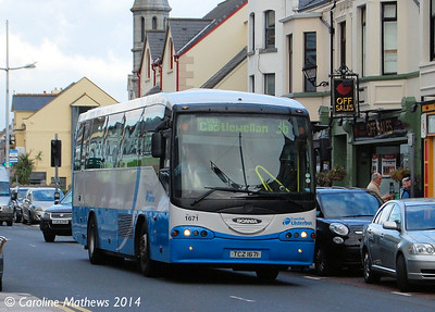 Ulsterbus 1671 (TCZ 1671), Newcastle, 14th October 2014