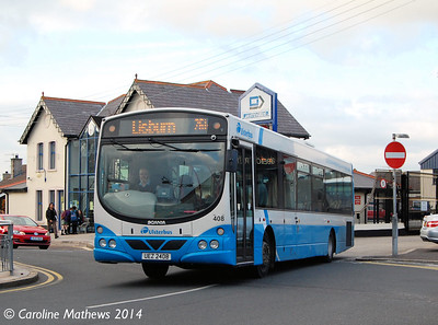 Ulsterbus 408 (UEZ 2408) , Newcastle, 14th October 2014