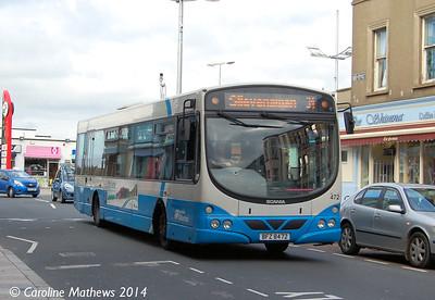 Ulsterbus 472 (BFZ 8472) , Newcastle, 14th October 2014