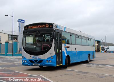 Ulsterbus 196 (AFZ 1196), Downpatrick, 15th October 2014