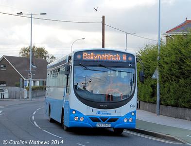 Ulsterbus 340 (PEZ 9340), Newcastle, 14th October 2014
