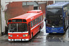Alder Valley 127 in a Monsoon Winchester Bus Station 1st Jan 2014