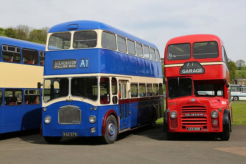 A1 Daimler Lathalmond Bus Museum 18th May 2014