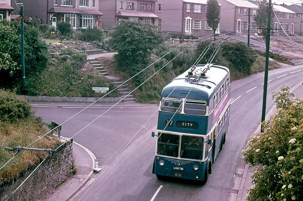 Bradford 831 LHN781, Pasture Lane Clayton, July 1971