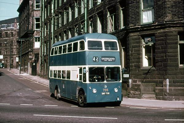 Bradford 735 DKY735, Balme Street, July 1971