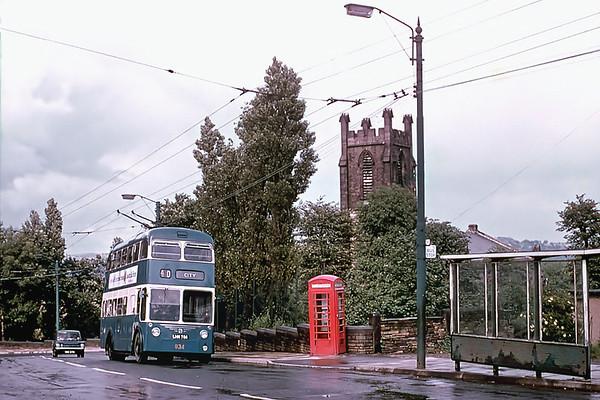 Bradford 834 LHN784, Idle, July 1971