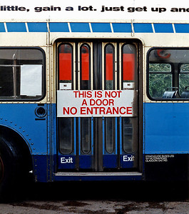 'Door' on Strathclyde Buses (ex Tayside Buses) Volvo Ailsa bus.