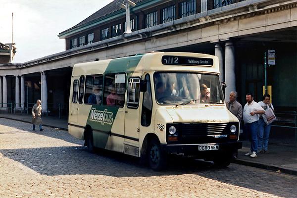 Merseybus 7680 D680SEM, Seacombe 26/8/1988