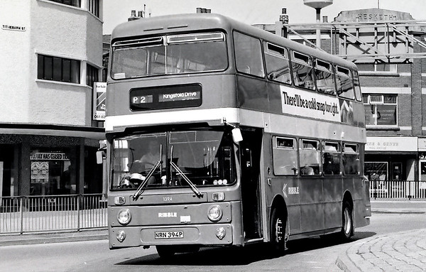 Ribble 1394 NRN394P, Preston 1976