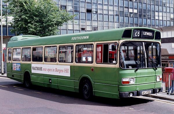 Southdown 70 WYJ170S, Brighton 6/7/1992