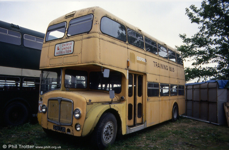 Former 340 (340 TJO), a City of Oxford AEC Renown/Park Royal H38/27F prior to restoration at Oxford Bus Museum on 16th May 1993.