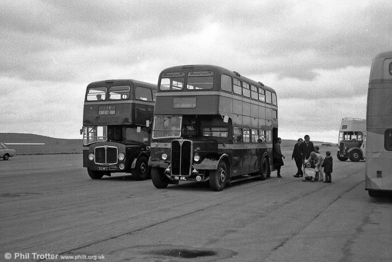 City of Oxford 1956 AEC Regent V/Weymann L30/26RD 191 (191 AWL) and 312 (312 MFC) a 1961 AEC Bridgemaster/Park Royal H43/29F.
