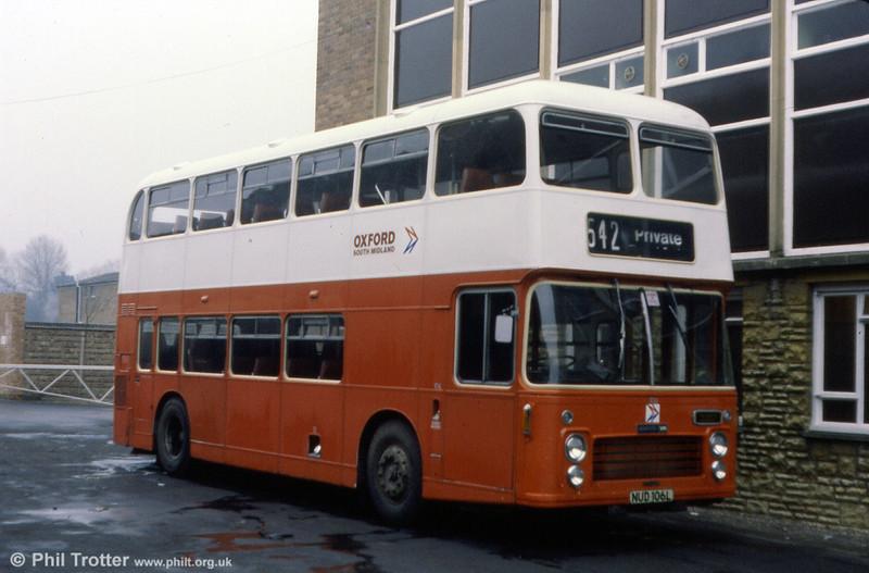 106 (NUD 106L), a 1973 Bristol VRT/ECW CH41/27F.