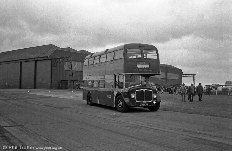 AEC Renown/Park Royal H38/27F 332 (332 RJO) at Wroughton Airfield.