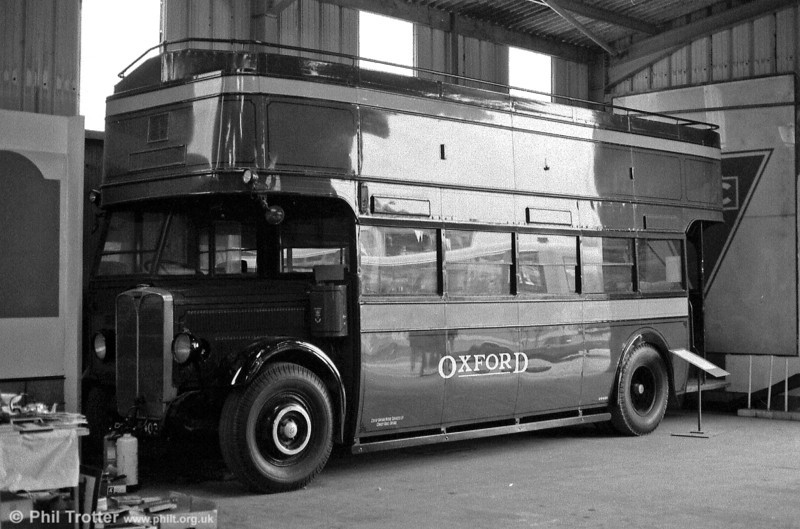 1932 AEC Regent/Brush O28/24R GA16 (JO 5403) photographed at the Oxford Bus Museum.